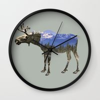 moose Wall Clocks featuring MOOSE by Outdoor Bro