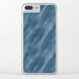 Blue Abstract Blend Motion Blur Pattern Pairs To 2020 Color of the Year Chinese Porcelain PPG1160-6 Clear iPhone Case