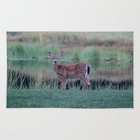 fawn Area & Throw Rugs featuring Fawn by Linda Wooderson