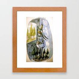 inside my imaginary forest Framed Art Print