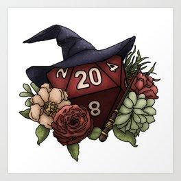 Wizard Class D20 - Tabletop Gaming Dice Art Print