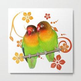 Two lovebirds Metal Print