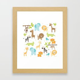 Jungle Animals Framed Art Print