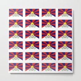 flag of thibet,བོད,tibetan,asia,china,Autonomous Region,everest,himalaya,buddhism,dalai lama Metal Print