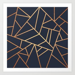 Copper and Midnight Navy Art Print