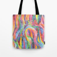queer Tote Bags featuring queer rainbows by ElenaM