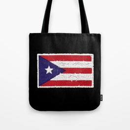 Puerto Rican flag with distressed textures Tote Bag