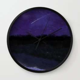 First Frost - After Sunset Wall Clock