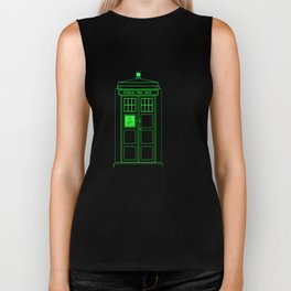 Tardis With The Second Doctor Biker Tank
