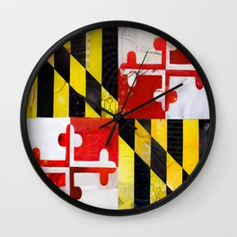 Maryland Pride Wall Clock