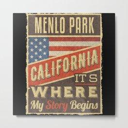 Menlo Park California Metal Print