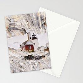 Lighthouse reflection Stationery Cards