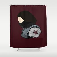 bucky Shower Curtains featuring Bucky by Swell Dame