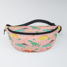 Jurassic Dinosaurs on Pink Fanny Pack