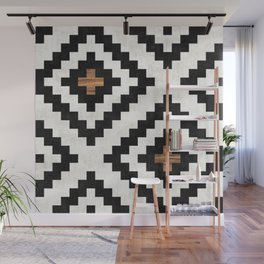 Urban Tribal Pattern No.16 - Aztec - Concrete and Wood Wall Mural