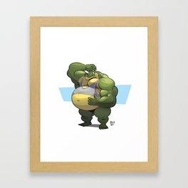 Beach Bod Croc Framed Art Print