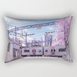 Seoul Anime Train Tracks Rectangular Pillow