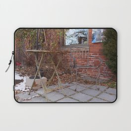 Winter time table and chair Laptop Sleeve