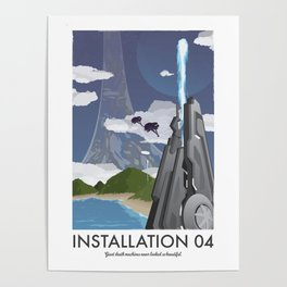 Installation 04 (Halo) Travel Poster Poster