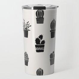 Southwestern Stamped Potted Cactus + Succulents Travel Mug