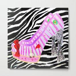Elisavets Pumps | Painting Heels |Zebra Metal Print