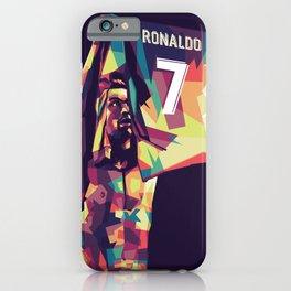 Cristiano on WPAP Pop Art Portrait iPhone Case