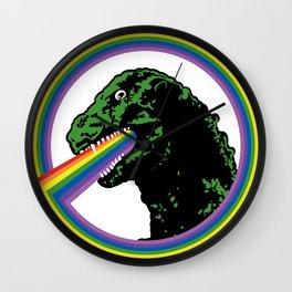Rainbow Lizard Wall Clock