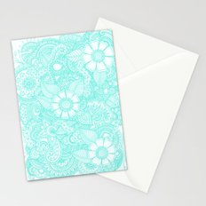 Henna Design - Aqua Stationery Cards