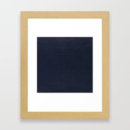 Leather navy BEAUTY Framed Art Print