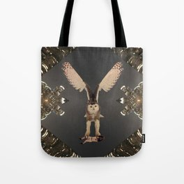 The Snowy Owl's Civic Duty Tote Bag