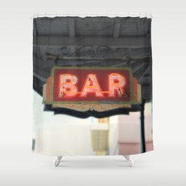 New Orleans Bar Sign Shower Curtain