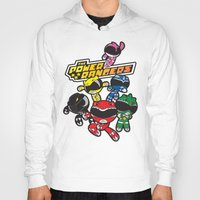 power rangers Hoodies featuring Power Rangers  by Dik Low