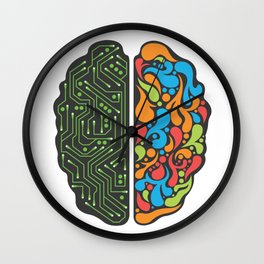 My brain is different Wall Clock