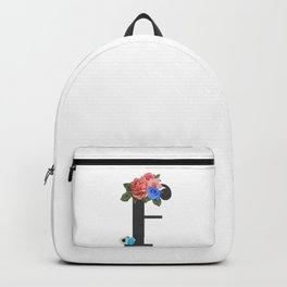 """I paint flowers so they will not die."" Frida Kahlo. Backpack"