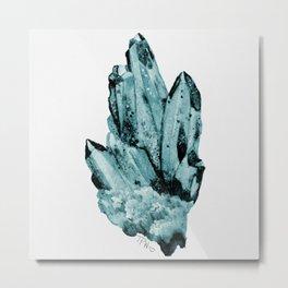 blue raspberry crystal cluster Metal Print
