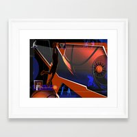 basketball Framed Art Prints featuring Basketball by Robin Curtiss