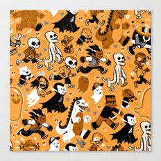 Monster March (Orange) Canvas Print