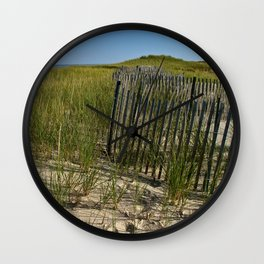 Cape Cod Beach Dunes Wall Clock