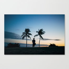 Tropic Silhouette  Canvas Print