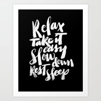 relax Art Prints featuring relax by Matthew Taylor Wilson