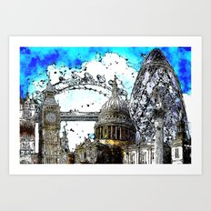 London Cityscape Art Print