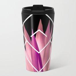 Agave geometrics III - pink Travel Mug
