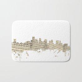 Boston Massachusetts Skyline Sheet Music Cityscape Bath Mat