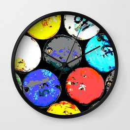 Pop Barrel Wall Clock