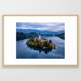 Island in the Lake Framed Art Print