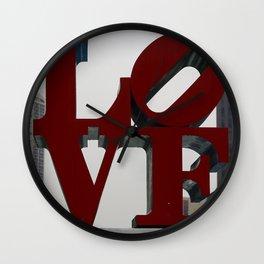 Love Philadelphia Sculpture Wall Clock
