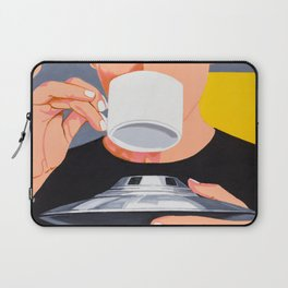 Coffee from the UFO - vintage movies poster hand drawn illustration Laptop Sleeve