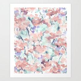 Divine Feminine Pale Coral Art Print