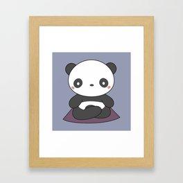 Kawaii Cute Yoga Panda Framed Art Print