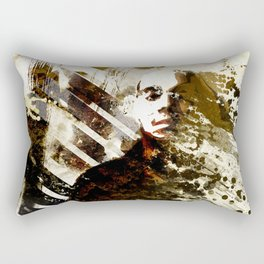 Splatter-Portrait Rectangular Pillow